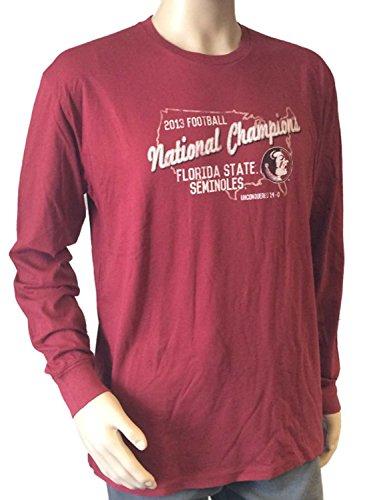 Florida State Seminoles Retro Brand 2013 BCS National Champs Maroon LS Shirt (L)