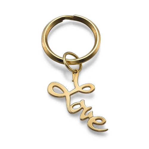 Amazon.com: 18 K Gold Plated amor llavero.: Jewelry