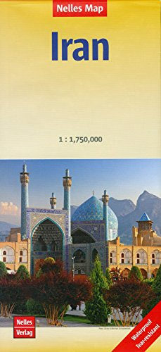 Iran 1:1,750,000 Travel Map, waterproof NELLES