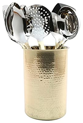 Cambridge Silversmiths Hammered Gold 8 Piece Utensil Set with Crock from Cambridge Silversmiths