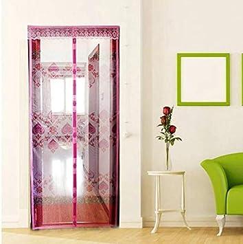 Mosquitera magnética doméstica de verano cortina de puerta con imán anti mosca mosquitera de arena y el imán en la red adsorbe automáticamente la cortina de hilo de red A3 A110xH210