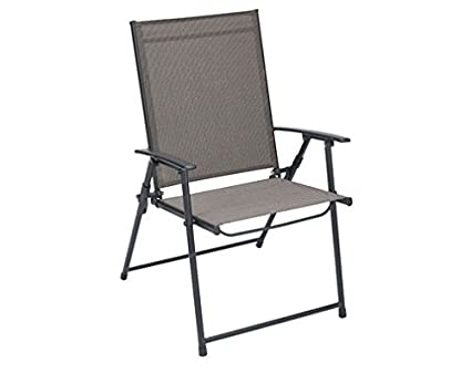 Cool Amazon Com Folding Sling Chair Tan By Living Accents Camellatalisay Diy Chair Ideas Camellatalisaycom
