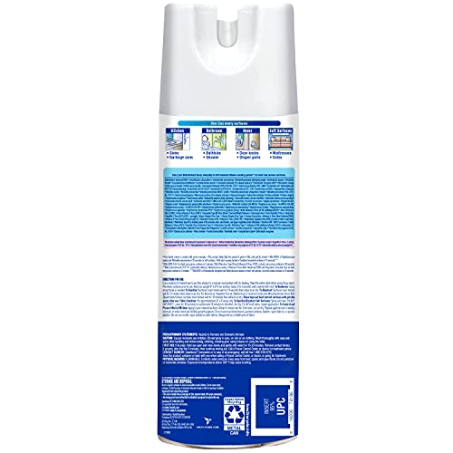 Lysol Disinfectant Spray, Sanitizing and Antibacterial Spray, For Disinfecting and Deodorizing, Crisp Linen, 1 Count, 12.5 fl oz
