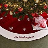 Vickerman QTX17762 72 in. Plush White Velvet Tree Skirt