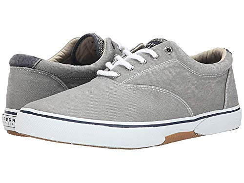 SPERRY Mens Halyard Low Top Pull On Fashion Sneakers, Ash Grey, Size 12.0 (Grey Footwear Ash)