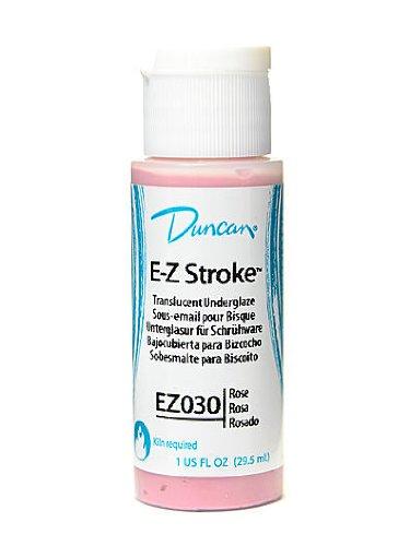 (Duncan Premixed E-Z Stroke Translucent Underglazes rose 1 oz. [PACK OF 4 ])