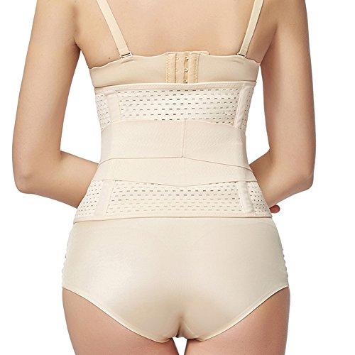 PULABO Faja Postparto Para Mujeres Con Velcro Cintura 75-93 cm Desnudo10