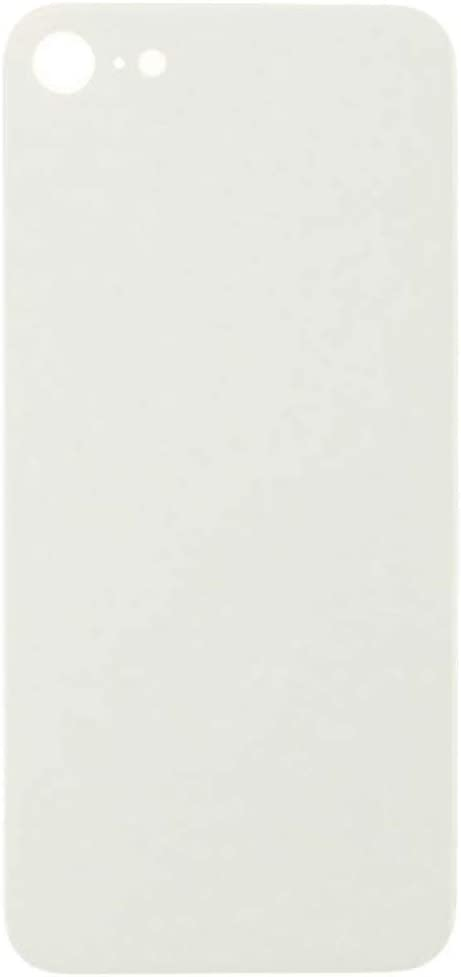 White with Glue Card Rear Glass for Apple iPhone 8