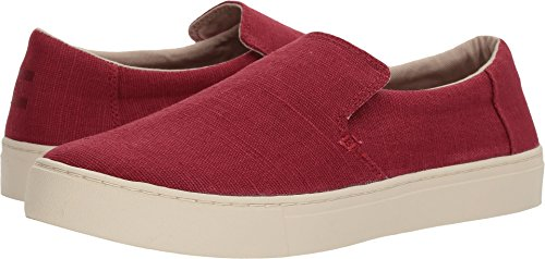 Tomas Heren Lomas Slip-on Henna Rood Erfgoed Canvas 9.5 D Ons