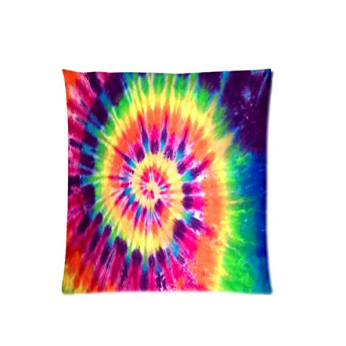 colorful tie dye zippered pillowcase