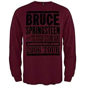 Bruce Springsteen - Mens Americanland 06 Tour Long Sleeve Small Maroon