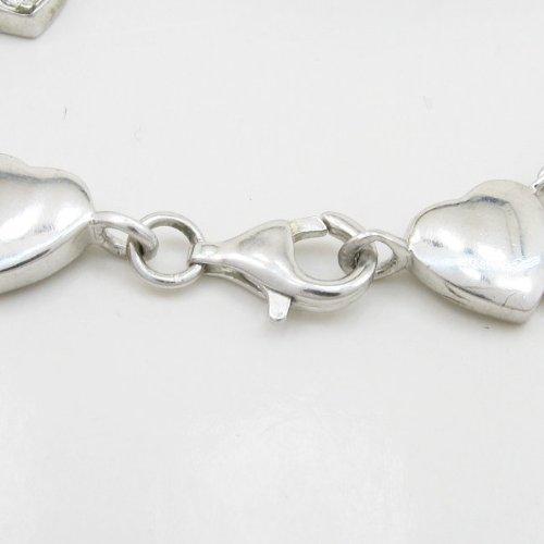 Femme-silver love et coeur lien bracelet SB5 7,5 cm de long, 14 cm de large