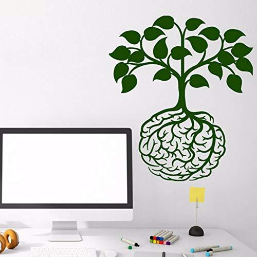 Pbldb 42X48Cm Wall Decal Life Tree Pattern Vinyl Wall Sticker Classroom Idea Brain Design Roots Art Decor Removable Mural