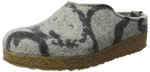 Haflinger Grizzly Onda, Unisex Adults' Open Back Slippers Grey (Anthracite)