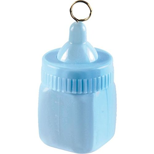 Cute Baby Bottle Balloon Weight Party Decoration, Pastel Blue, Plastic Foil , 2.9 (Baby Bottle Centerpieces)