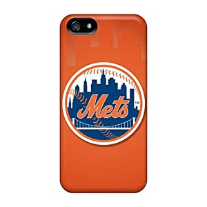 Protector Hard Phone Cases For Iphone 5/5s (ilz12328TJaq) Unique Design Fashion New York Mets Image