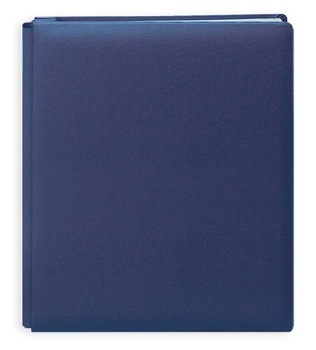 Pioneer 12 Inch by 15 Inch Postbound Family Treasures Deluxe Fabric Cover Memory Book, Seabreeze Blue