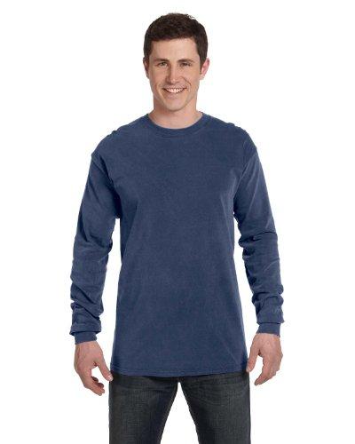 Maglietta A Maniche Lunghe Da Uomo Tinta Unita Ringspun Tinta Unita (c6014) Blu China
