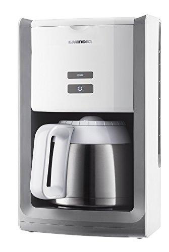 Grundig KM 8280 W Kaffeemaschine Thermokanne 1,5 L Kanne, abnehmbarer Wassertank, Abschaltautomatik, weiß / edelstahl