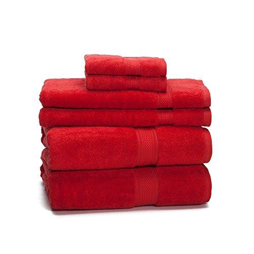 Red Towels Bathroom: 900 Gram 6-Piece Egyptian Cotton Towel Set