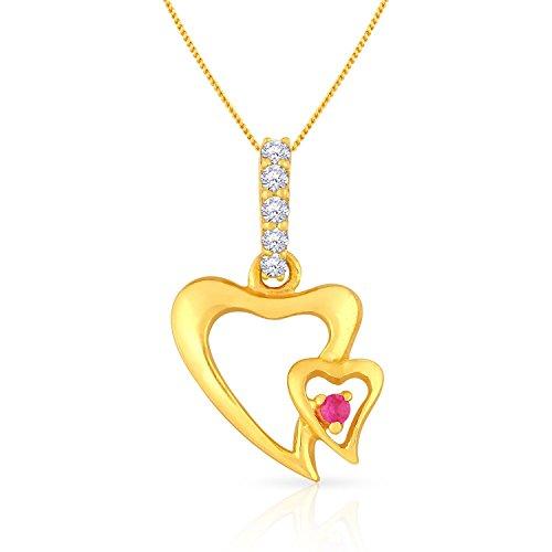 Malabar Gold and Diamonds 22KT Yellow Gold Pendant for Women
