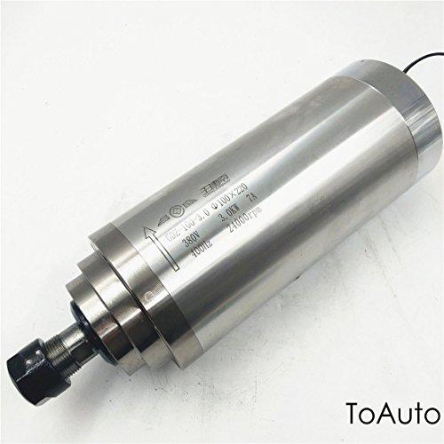 Spindle Motor 3KW Water Cooled ER20 220V(380V) 24000rpm High Speed D=100MM 4Bearing CNC Router (Voltage 220V)