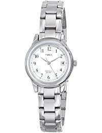 Timex Women's T29271 Elevated Classics Dress Sport Chic Silver-Tone Bracelet Watch