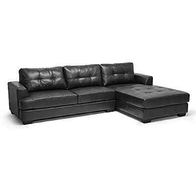 Baxton Studio Dobson Leather Modern Sectional Sofa
