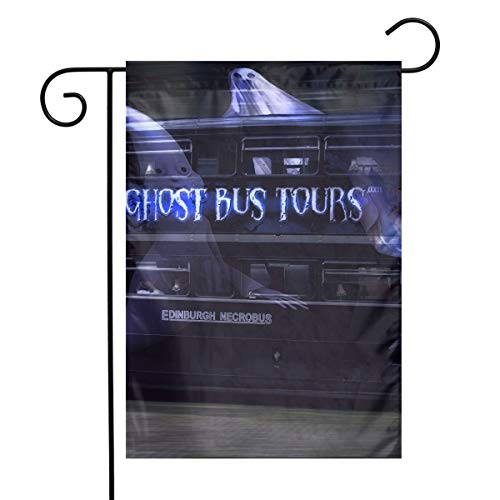 MINIOZE Cool Halloween Ghost Tour Bus Themed Welcome Mailbox Small Jumbo for Outdoor Decorations Ornament Picks Garden House Home Yard Traditional Decorative Front 12