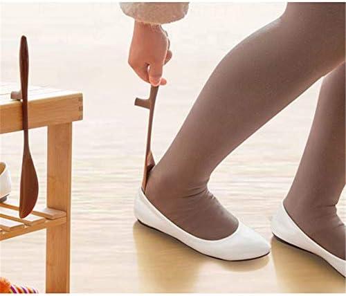 軽量 女性のためのプラスチックShoehorns付きハンガーデザイン軽量靴ヘルパーセット 耐用 (Color : Coffee, Size : 30*4cm)
