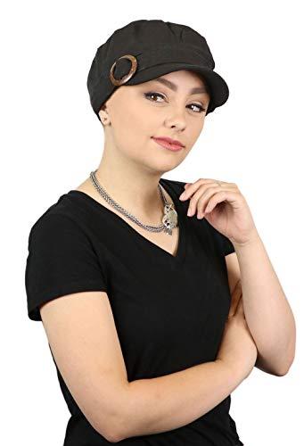 Linen Blend Scarf - Womens Hat Linen Blend Military Cadet Cap Ladies Headwear Head Coverings