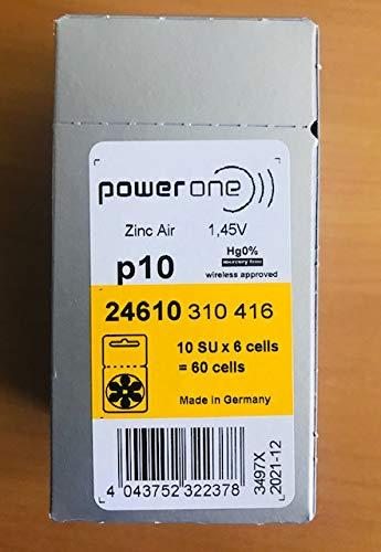 90 X Size P10 Powerone Hearing Aid Batteries