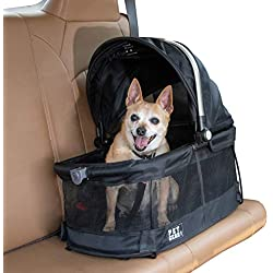 Pet Gear View 360 Pet Carrier & Car Seat for Small Dogs & Cats with Mesh Ventilation for Easy Viewing, Black - 360