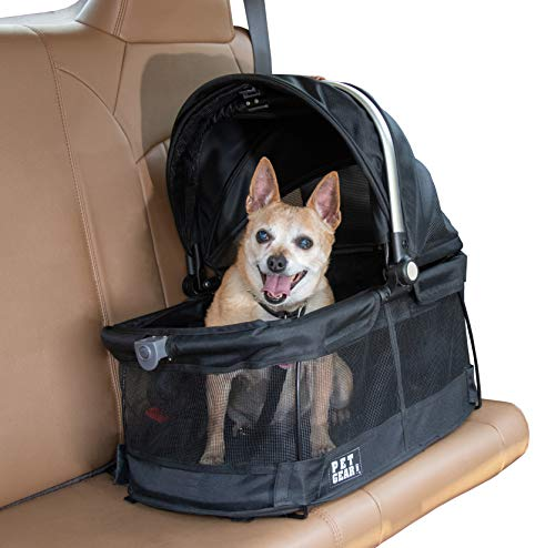 Pet Gear Deluxe Travel Carrier, Car Seat, Booster Seat for Cats and Dogs