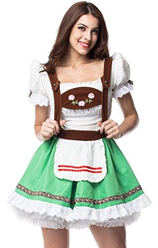 Beer Girl Halloween Costumes (Alivila.Y Fashion Womens Sexy Oktoberfest Beer Girl Halloween Costume 31638-2XL)