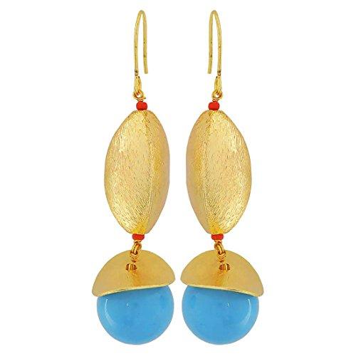 Maayra Designer Blue Drop Party Jewellery Earrings by Maayra