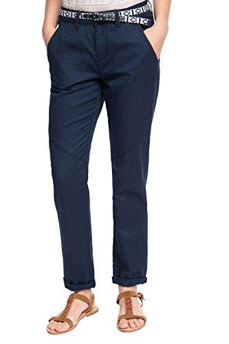 By 400 Edc bleu Esprit Pour Mit Femme Pantalon Leinen Marine Bleu 71Cwqdp