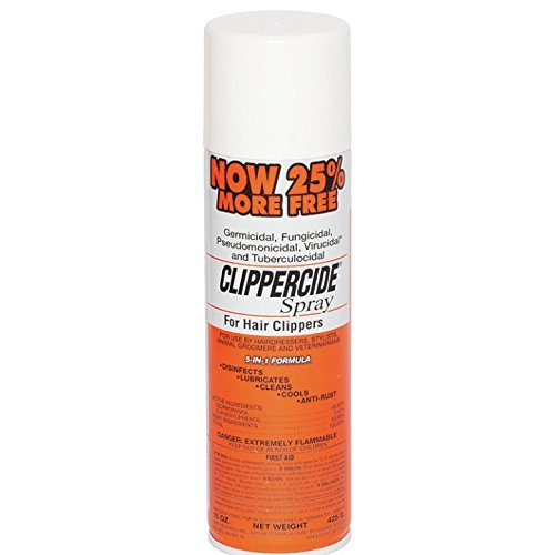 Clippercide 72130 Aerosol Spray, 15 Ounce (Aerosol Spray Cleaner)