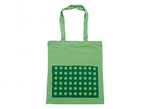 Baumwolltragetasche Jutebeutel Beutel Miniblings grün GLATT Sterne grün Stern