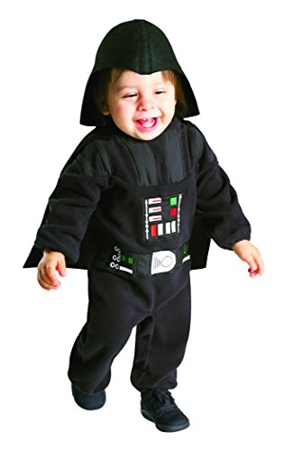Rubie's Star Wars Darth Vader Romper, Black, 12-24