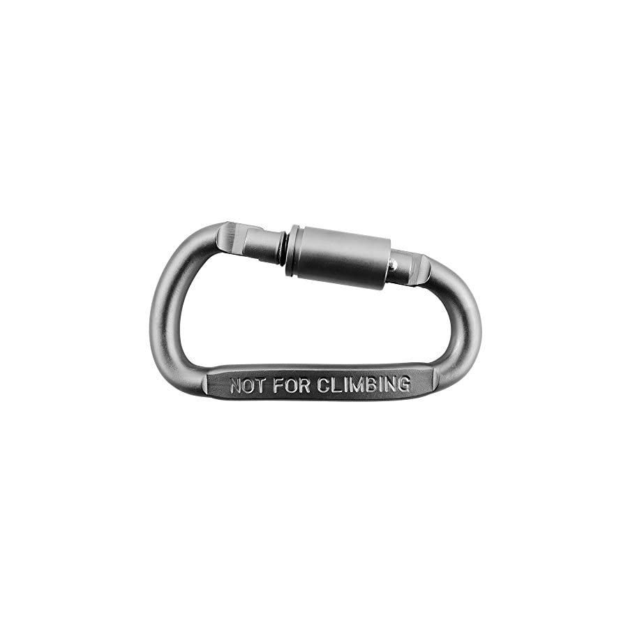 Outmate 6 pcs Aluminum D Ring Locking Carabiner Light but Strong