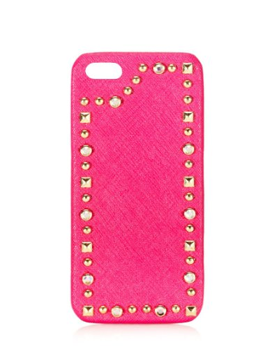 Couture Leather Pink Juicy (Juicy Couture Leather & Stud Iphone 5 Case Pink)