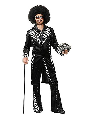 Rap Star Costumes (Charades Funny Mens Pimp Daddy Ho Gigolo Halloween Costume XL)