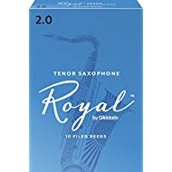 Royal by D'Addario Tenor Sax Reeds, Strength 2.0, 10-pack