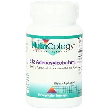 Nutricology B12 Adenosylcobalamin Vegetarian Lozenges, 60 Count