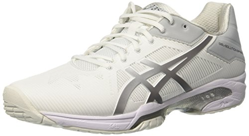 Bianco Scarpe Gel Asics Donna White Silver Solution 3 da Speed Tennis xpqCPTqOw