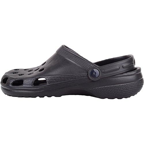 correa Vacaciones el Absolute en con de tobillo Zuecos piscina Hombre Sandalias Mulas Playa Verano Negro Footwear UxxwfgqP