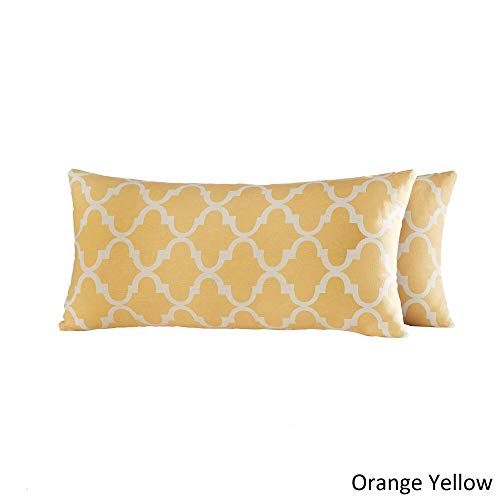 Inspire Q Montvale Moroccan Pattern Toss Kidney Pillow (Set of 2) by Bold Yellow ()