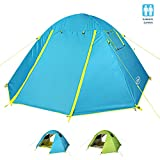 G4Free 2 Person Camping Tent, Dome Tents for Camping, Backpacking, Hiking, Travelling, Ourdoor Lightweight Rainproof Easy Setup 3 Season Two Doors Double Layer Professional Tents with Carrying Bag