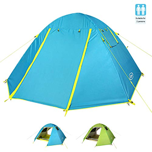 G4Free Backpacking Camping Tent Rainproof 3 Season Two Doors Double Layer Outdoor